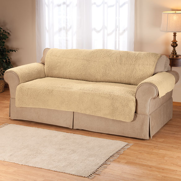Sherpa Sofa Protector By Oakridge Couch Cover Easy