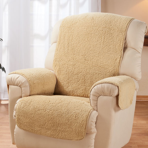 Sherpa Recliner Protector By Oakridge Easy Comforts