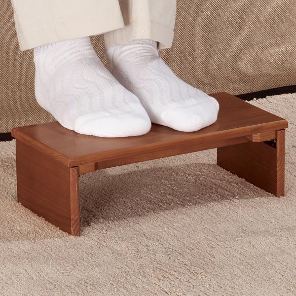 Folding Footrest Wooden Foot Stool Portable Foot Rest