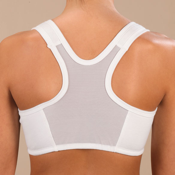 Easy Comforts Style Front Zip Mesh Back Bra Zip Bra