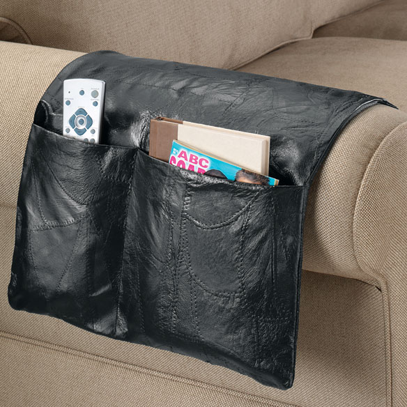 Leather Armchair Caddy - Armchair Caddy Organizer - Easy ...