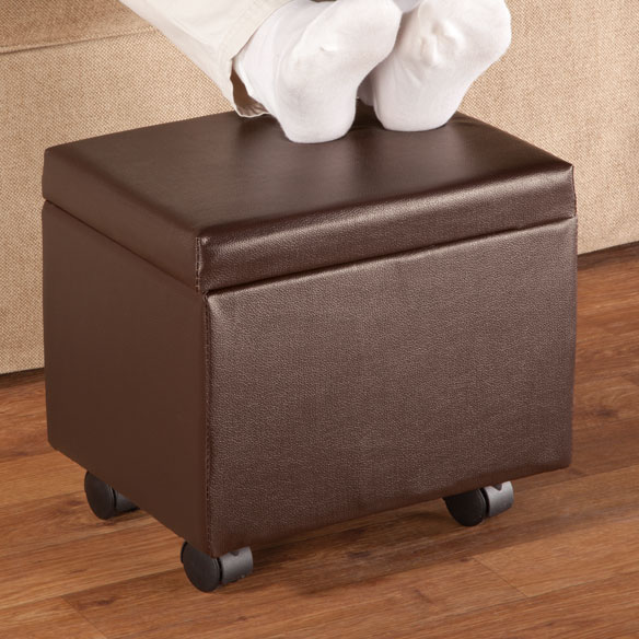 Flip Top Small Storage Ottoman by OakRidge™ Accents - View 2