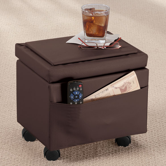 Flip Top Small Storage Ottoman by OakRidge™ Accents - View 3