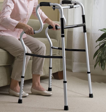 Sit To Stand Lightweight Folding Walker - View 3