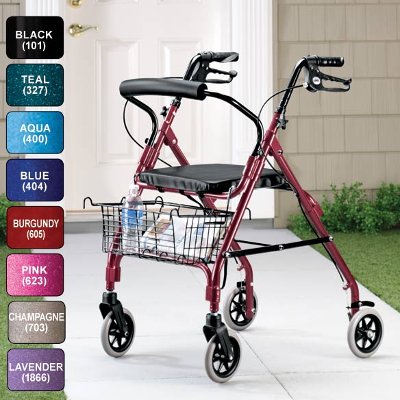 Lumex Walkabout Lite 4 Wheel Rollator - View 2