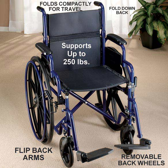 Fully Collapsible Wheelchair - View 2