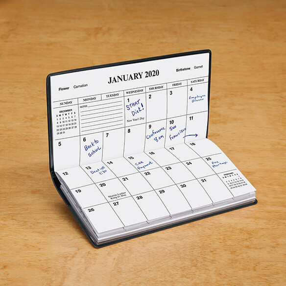 Black Personalized 2 Year Planner - View 2
