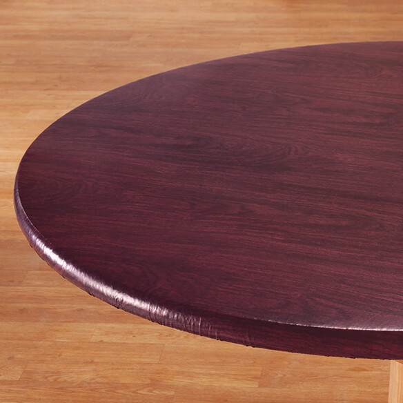 Wood Grain Fitted Table Cover - View 5