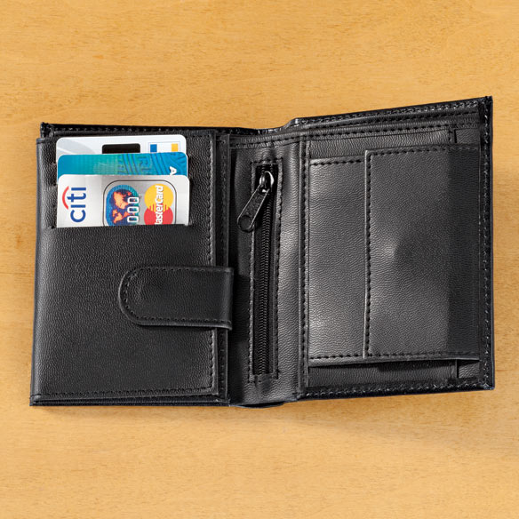 Leather RFID Wallet - 20 Pockets - View 3