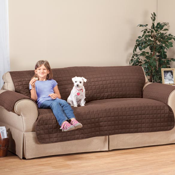Microfiber Sofa Protector by OakRidge™ Comforts - View 3