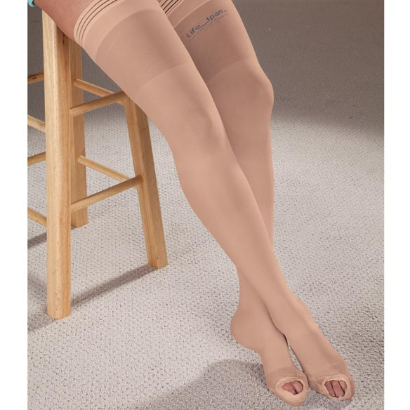 LifeSpan® Anti-Embolism Thigh Highs - View 2