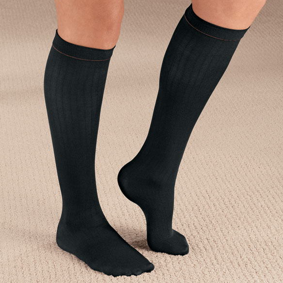 Ribbed Compression Socks - 15–20 mmHg - View 3