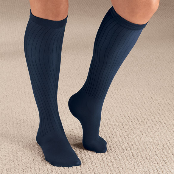Ribbed Compression Socks - 15–20 mmHg - View 4