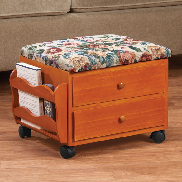 Multi Storage Rolling Ottoman by OakRidge™ Accents - View 2