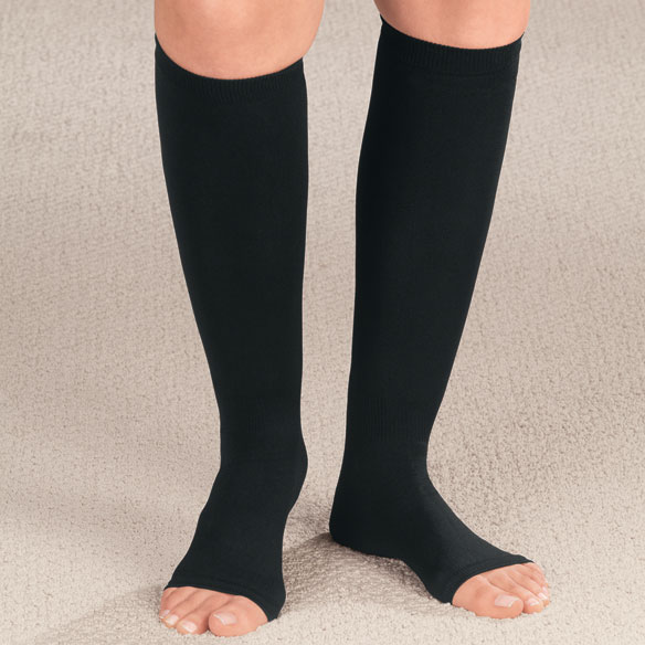 Compression Open Toe Knee Highs,  20–30 mmHg - View 2