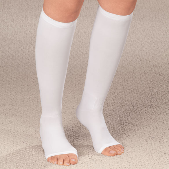 Compression Open Toe Knee Highs,  20–30 mmHg - View 3