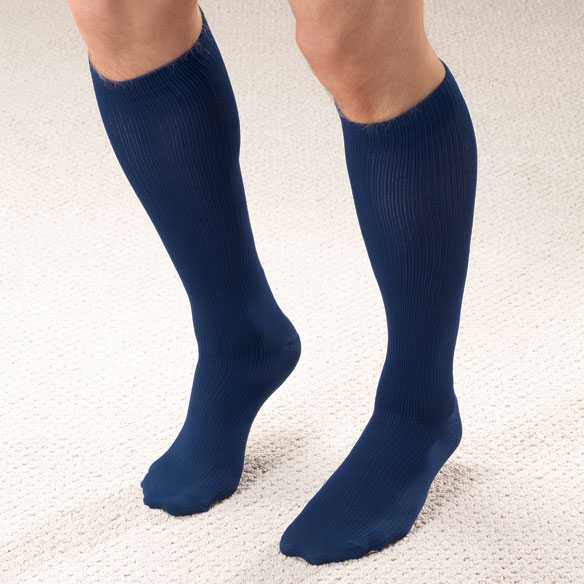 Men's Light Compression Trouser Socks - View 2