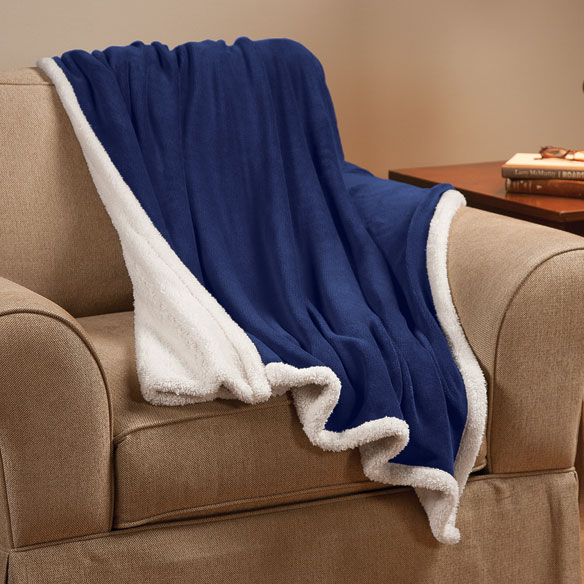 Ultra Plush Microfiber Sherpa Throw by OakRidge™ - View 3