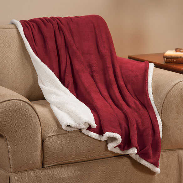 Ultra Plush Microfiber Sherpa Throw by OakRidge™ - View 4
