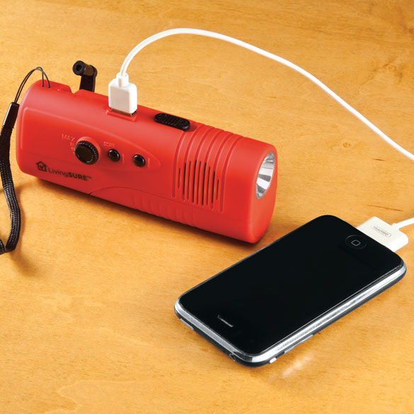 Emergency Radio, Flashlight and Charger by LivingSURE™ - View 2