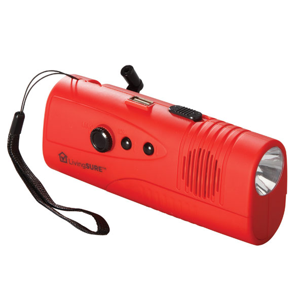 Emergency Radio, Flashlight and Charger by LivingSURE™ - View 3