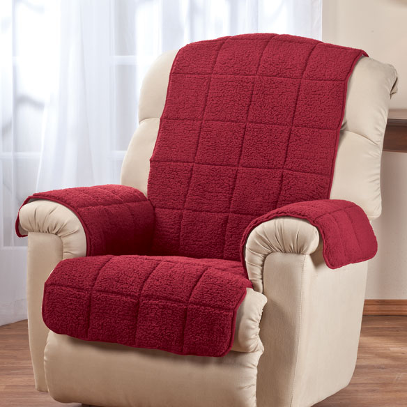Waterproof Quilted Sherpa Recliner Protector by OakRidge™ Comforts - View 3