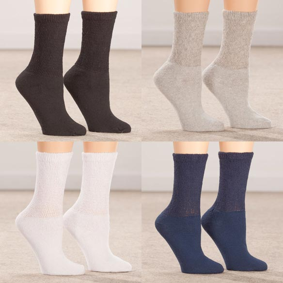 Silver Steps™ 3 Pack Diabetic Socks - View 2