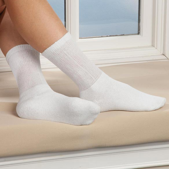 Silver Steps™ 3 Pack Diabetic Socks - View 4