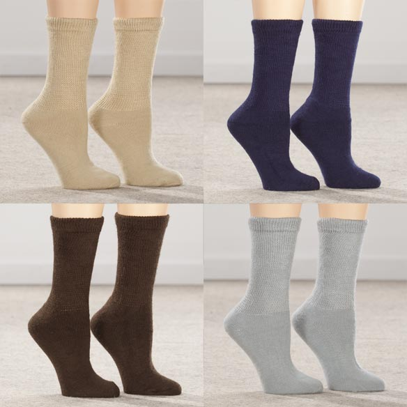 Silver Steps™ 3 Pack Extra Plush Diabetic Socks - View 3