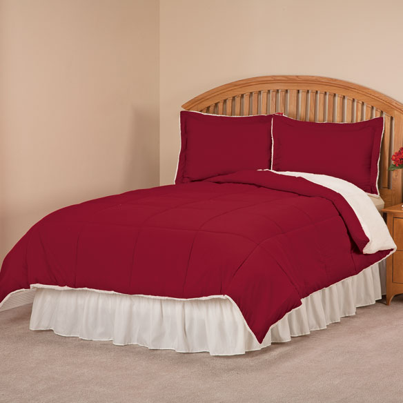 Sherpa Lined Alternative Down Comforter with Shams by OakRidge™ - View 2