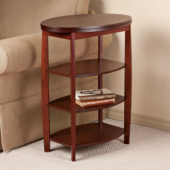 Wooden Swivel Table by OakRidge Accents™ - View 2