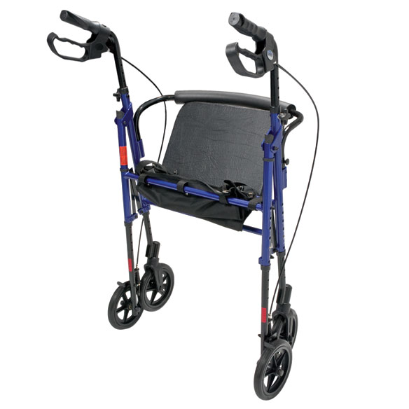 Wide Height-Adjustable Rollator - View 2