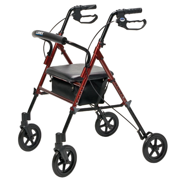 Wide Height-Adjustable Rollator - View 3