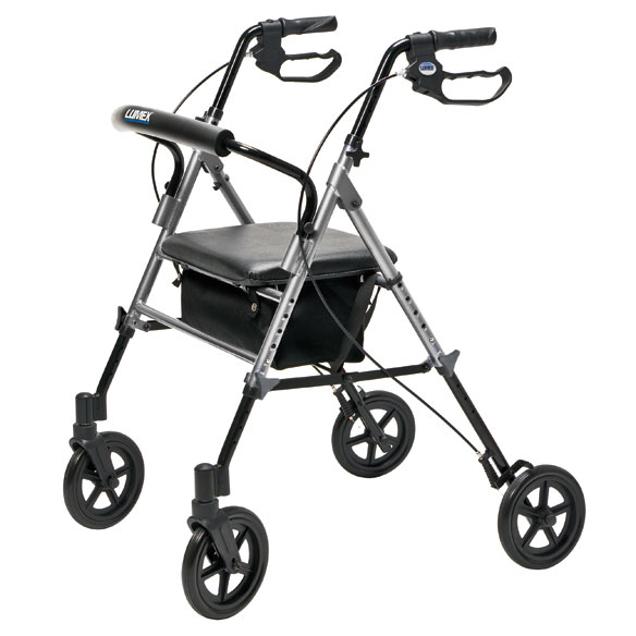 Wide Height-Adjustable Rollator - View 4