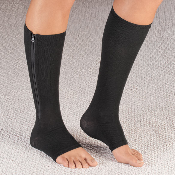 Magnetic Zipper Compression Socks - View 2