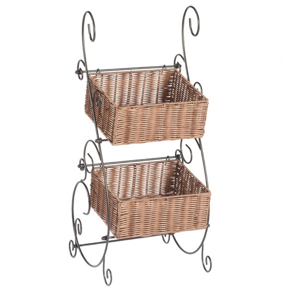 Wicker & Metal Storage Baskets by OakRidge™ - View 2