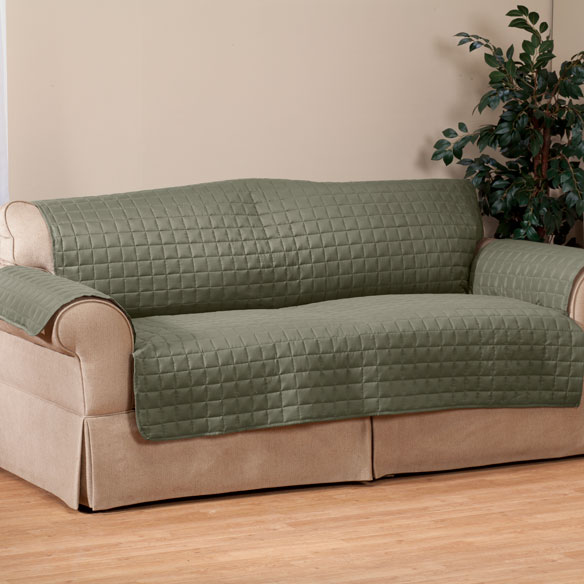 Microfiber Extra-Large Sofa Protector by OakRidge™ Comforts - View 4