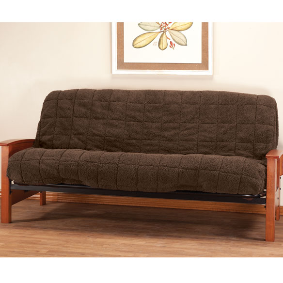 Waterproof Sherpa Futon Cover by OakRidge™ Comforts - View 3