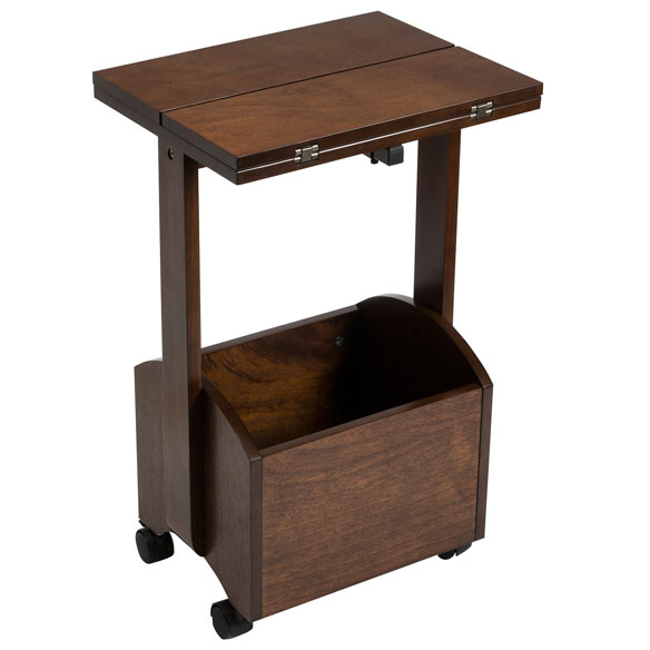 Rolling Folding Side Table by OakRidge™ Accents - View 3
