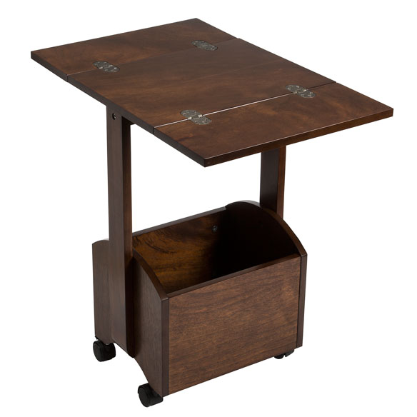 Rolling Folding Side Table by OakRidge™ Accents - View 4