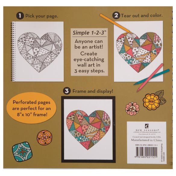 Color & Frame Patchwork Coloring Book - View 2
