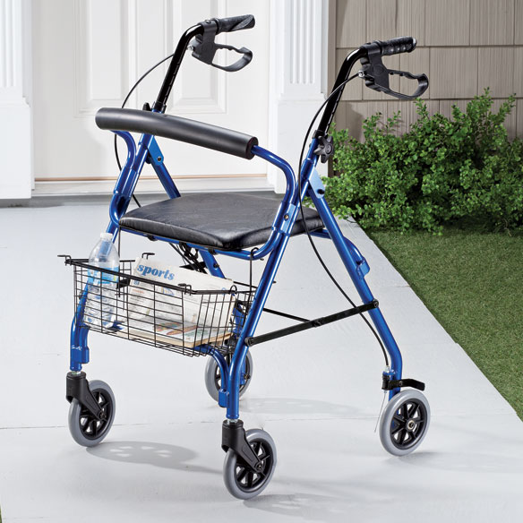 Aluminum Lite 4-Wheel Rollator - View 2