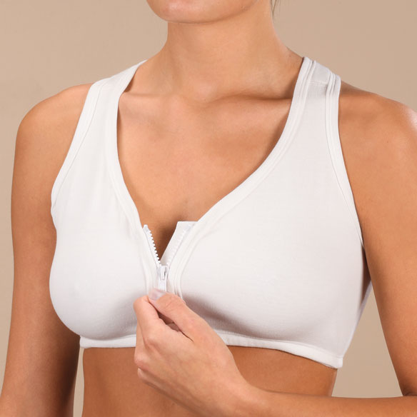 Easy Comforts Style™ Front Zip Mesh Back Bra - View 2