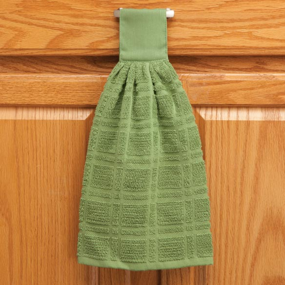 Cotton Hanging Towel - Solid - View 3