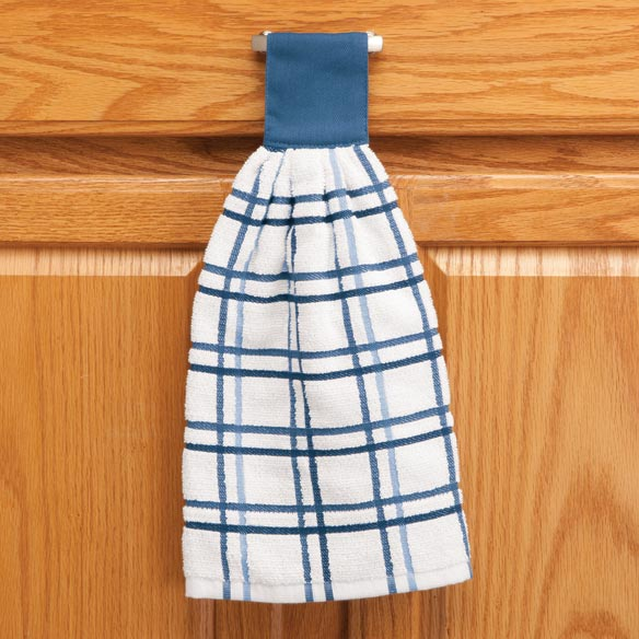 Cotton Hanging Towel - Checked - View 5