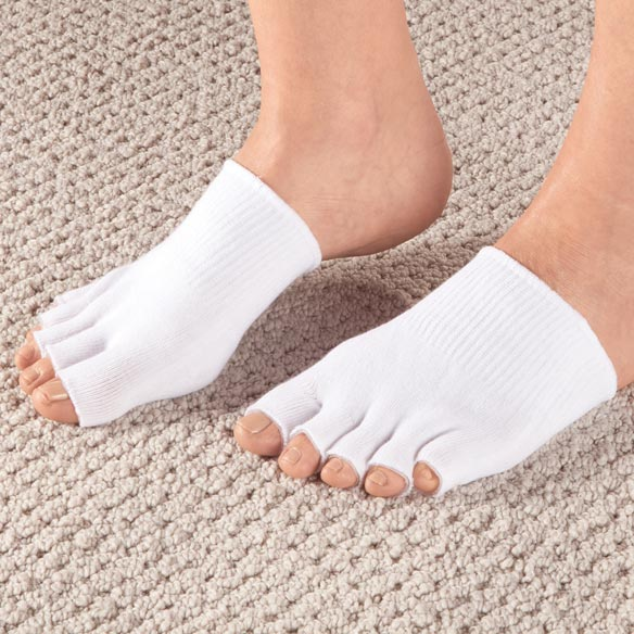 Healthy Steps™ Antibacterial Gel Toe Socks - View 2