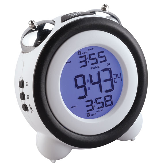 LCD Retro Bell Alarm Clock - View 2