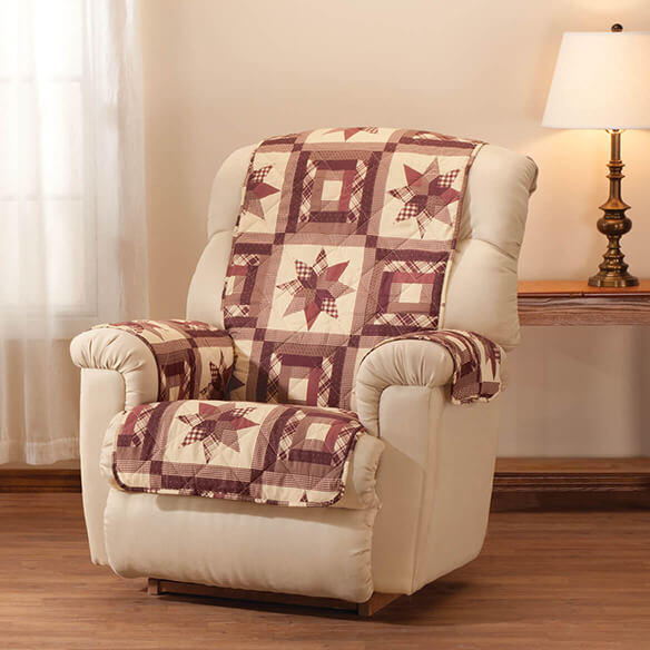 Star Quilt Print Recliner Cover - View 2
