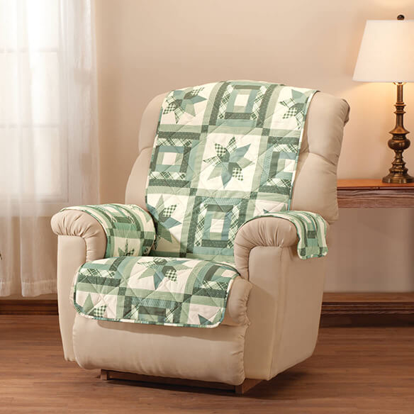 Star Quilt Print Recliner Cover - View 3