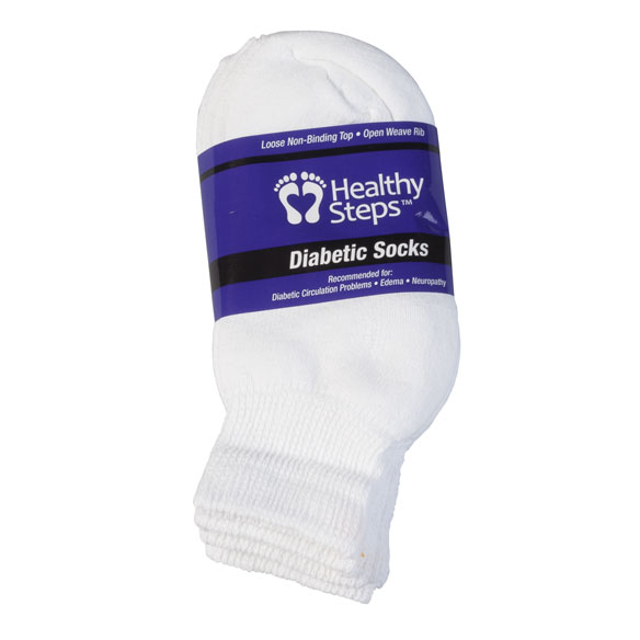 Silver Steps™ 3 Pack Quarter Cut Diabetic Socks - View 4